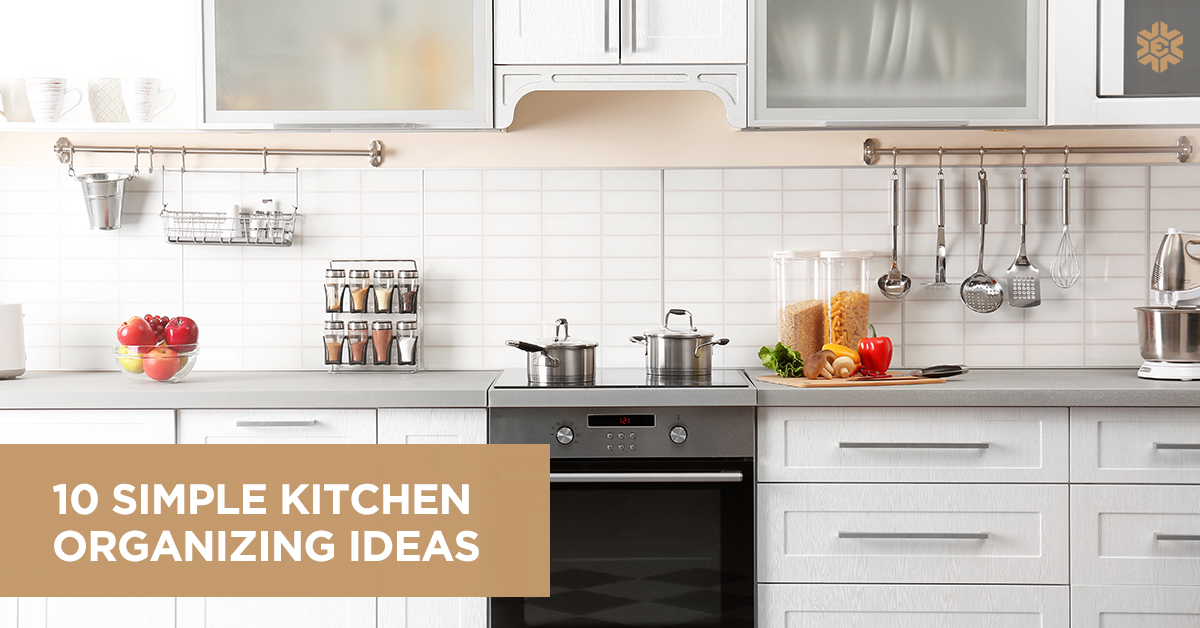 10 Simple Kitchen Organizing Ideas