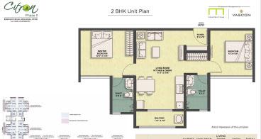 Citron 2 BHK Unit Plan