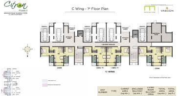 Citron C wing 1st Floor Plan