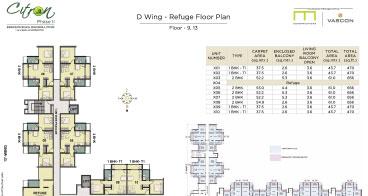 Citron D wing Refuge Floor Plan