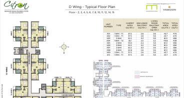Citron D Wing Typical Floor Plan