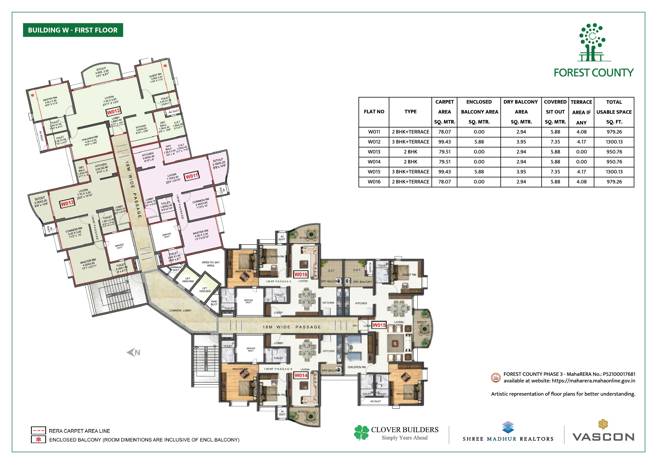Forest County Kharadi - Floor Plans and
