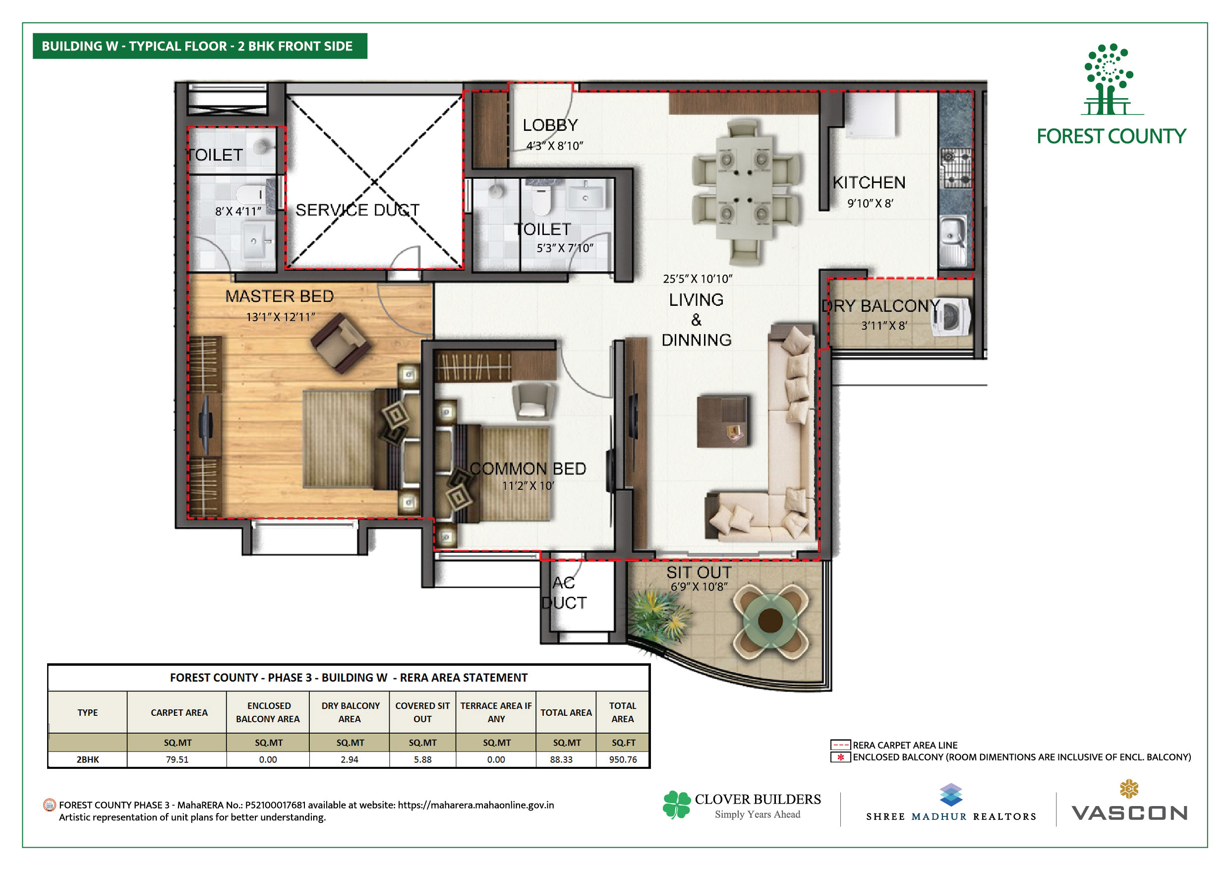 Forest County Kharadi - Floor Plans and Layouts