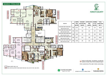 Forest County Building N Typical Floor Plan