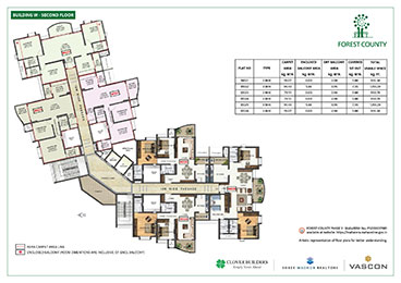 Forest County Building W Second Floor Plan