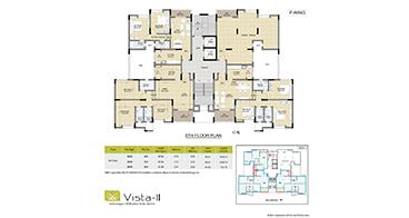 Vista II F-Wing 8th Floor Plan