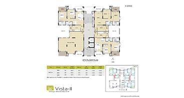 Vista II H-Wing 8th Floor Plan