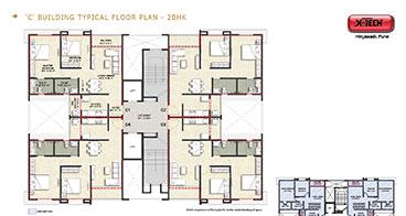 Xotech Homes 2 BHK Floor Plan