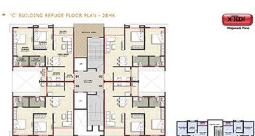 Xotech Homes 2 BHK Unit Plan