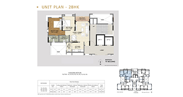 Xotech Homes 2 BHK Floor Plan