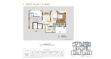 Xotech Homes 2 BHK Unit Plan
