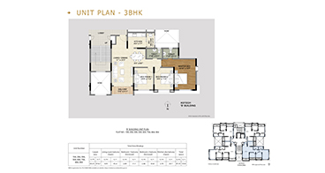 Xotech Homes 3 BHK Unit Plan